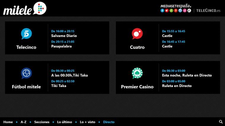 MiTele captura de pantalla 2