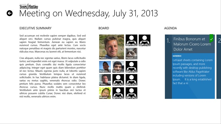 BOARD MEETING screen shot 2