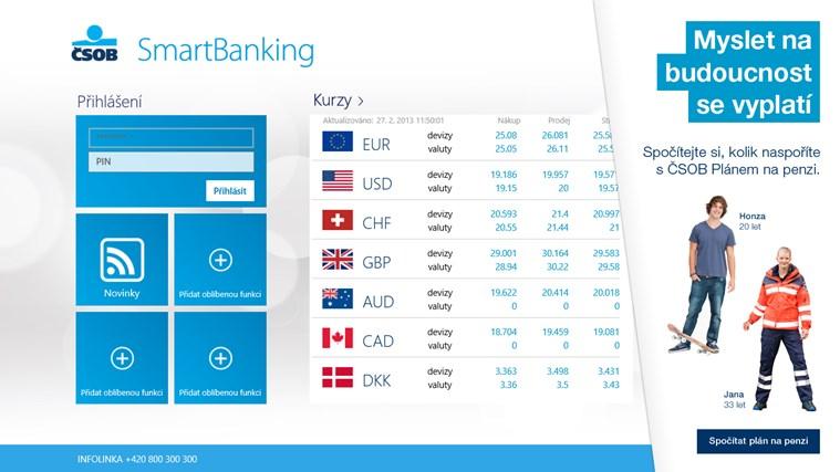 ČSOB SmartBanking snímek obrazovky 0