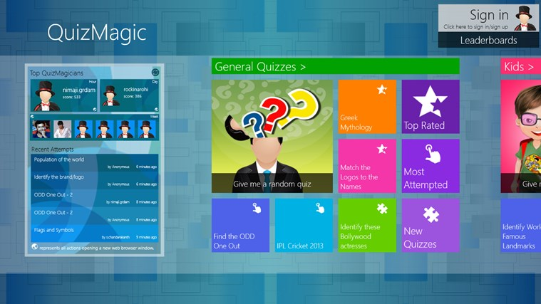 QuizMagic screen shot 0