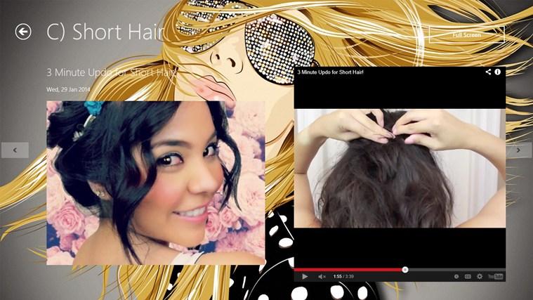 Hairstyle App screen shot 2