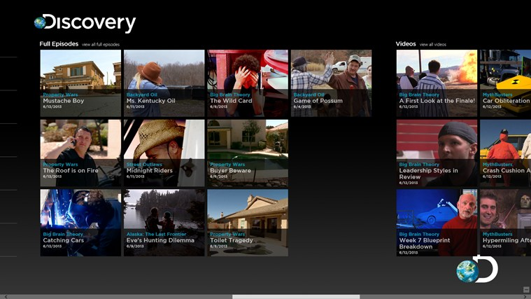 Discovery Channel screen shot 4