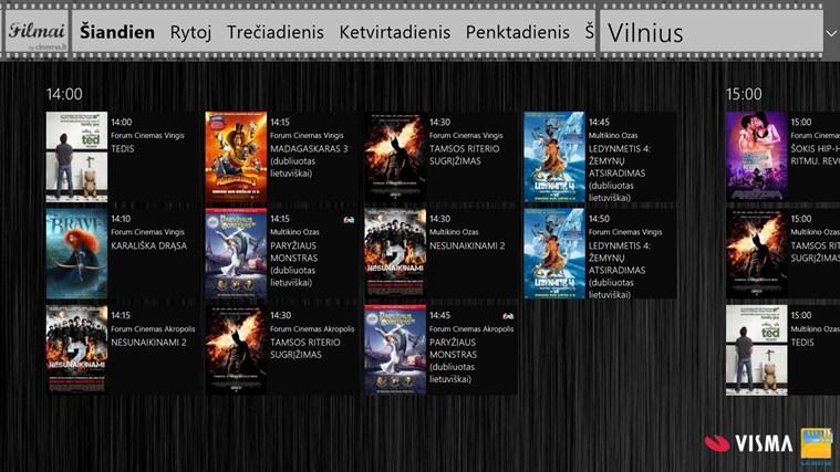 Filmai by cinema.lt ekrano nuotrauka 0