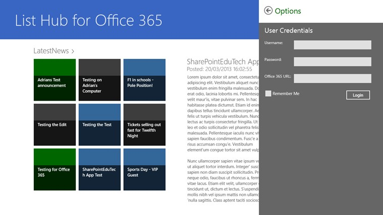 List Hub for Office 365 screen shot 2