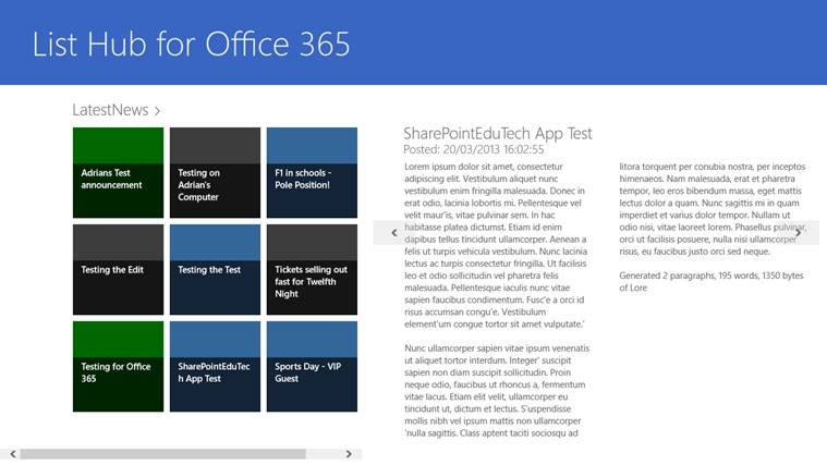 List Hub for Office 365 screen shot 4