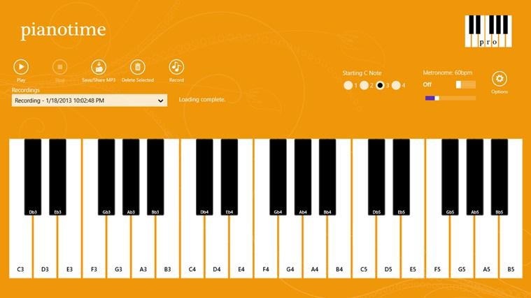 Piano Time Pro screenshot