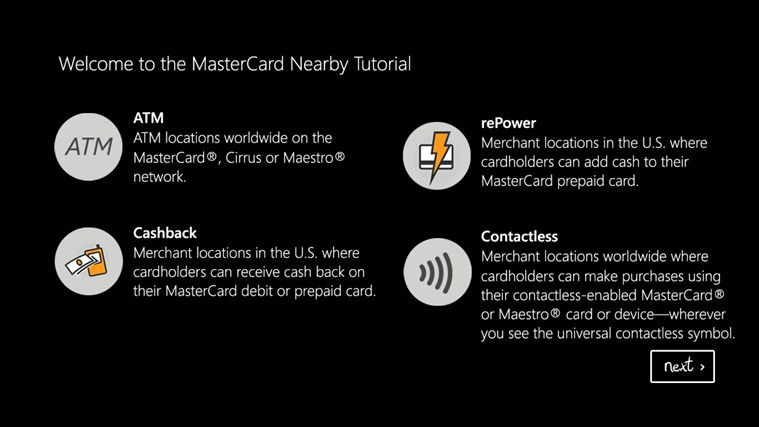 Mastercard Nearby screen shot 0