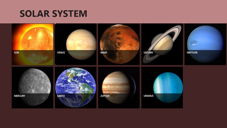 Solar System Planets screen shot 0