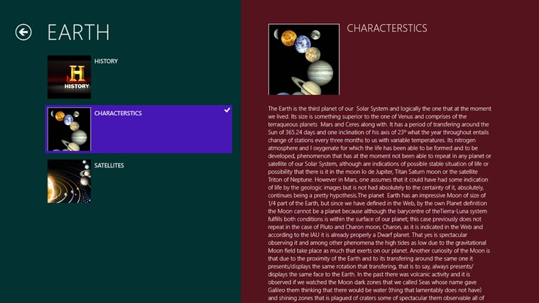 Solar System Planets screen shot 2