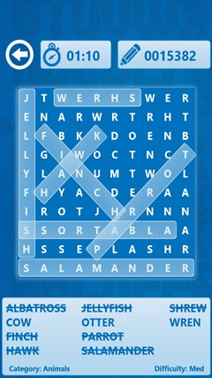 Word Search screen shot 2
