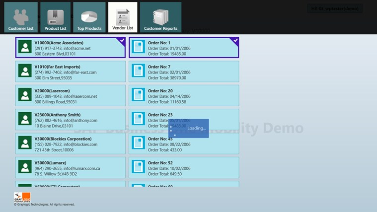 SAP Business One Mobility Demo screen shot 2