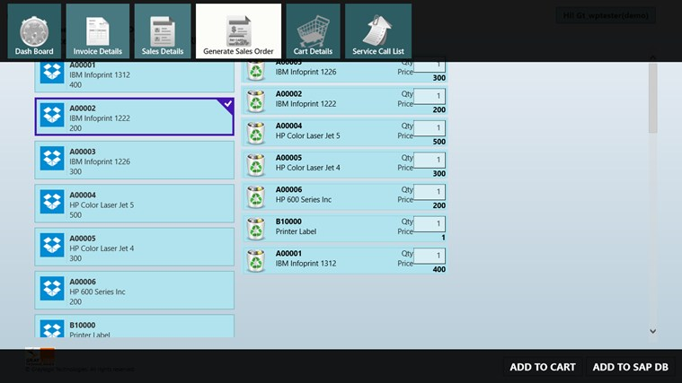 SAP Business One Mobility Demo screen shot 6