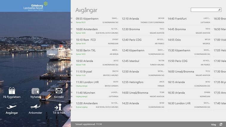 Swedavia Swedish Airports-skärmbild 0