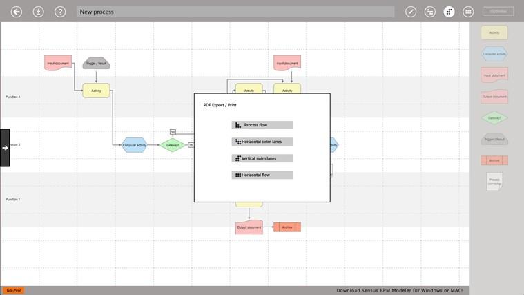 Process Modeller screen shot 0