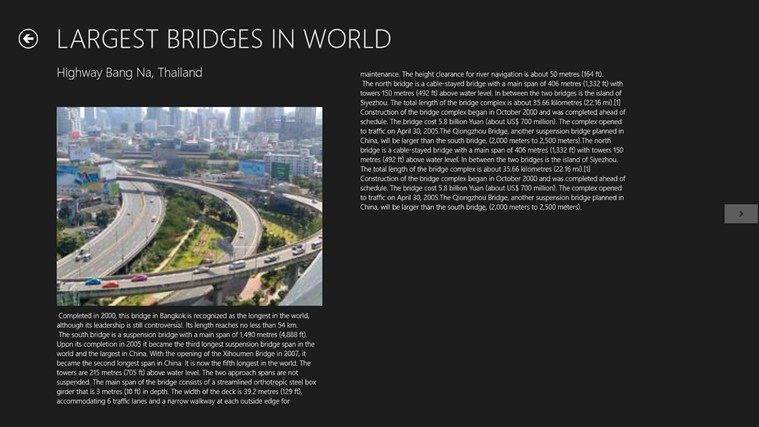 WORLD TOP TEN LARGEST BRIDGES screen shot 2