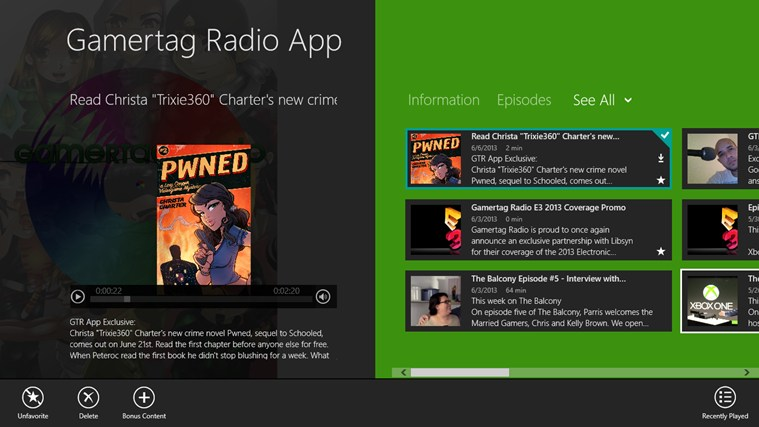 Gamertag Radio App screen shot 0