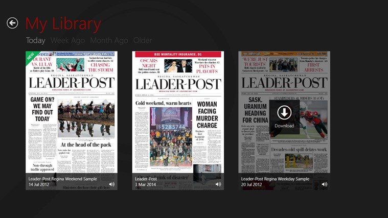 Leader-Post ePaper screen shot 2