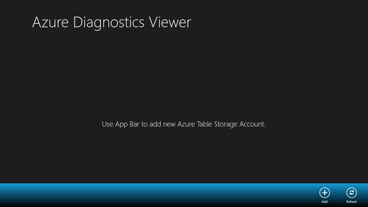 Azure Diagnostics Viewer screen shot 0