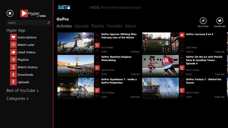 Hyper for YouTube screen shot 2
