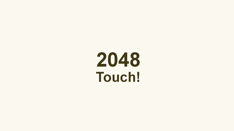 2048 Touch screen shot 0