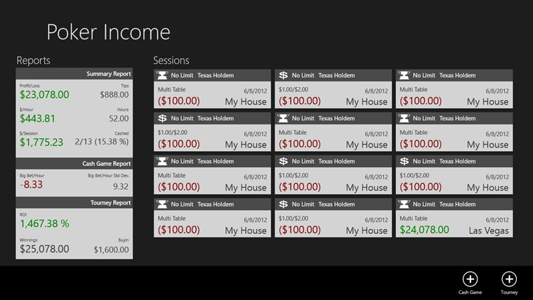 Poker Income Windows 8 Game