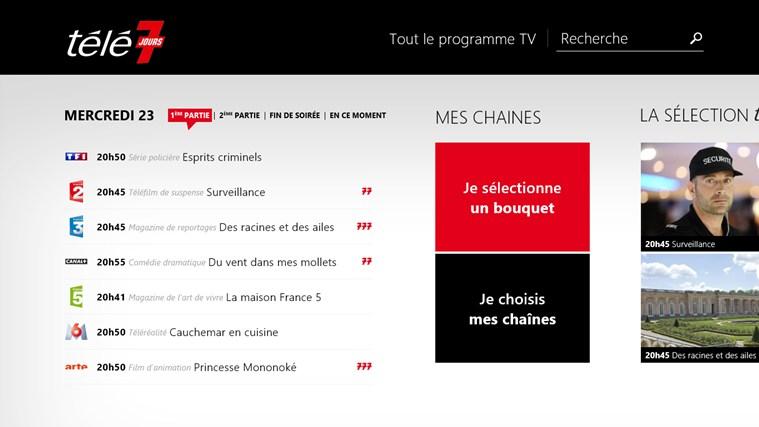 Télé 7 Programme TV capture d'écran 0