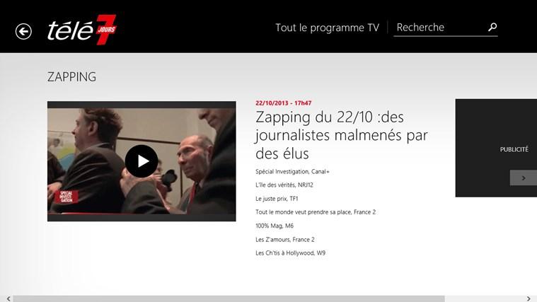 Télé 7 Programme TV capture d'écran 4