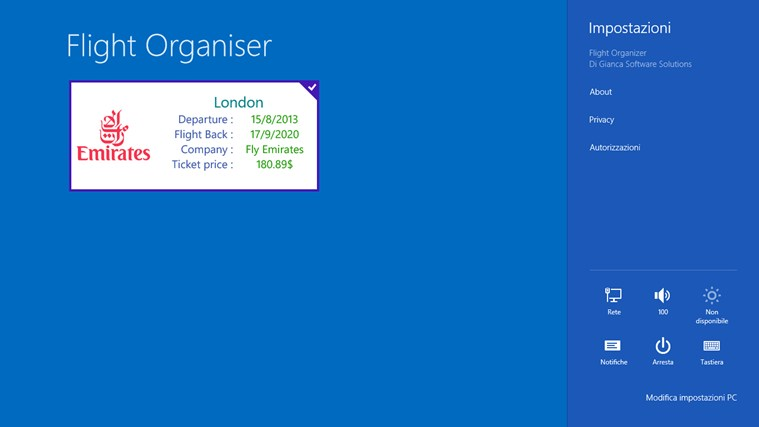 Flight Organiser screen shot 4