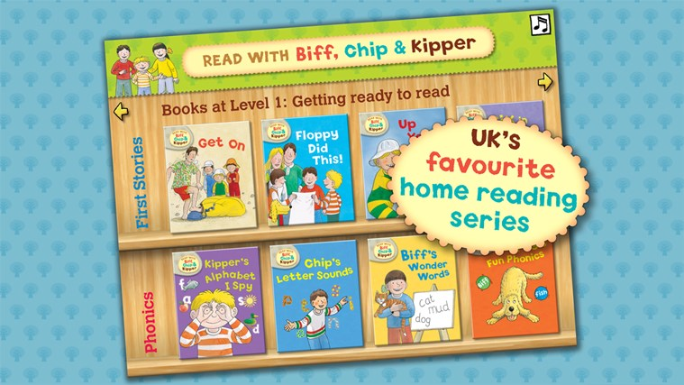 Read with Biff, Chip & Kipper: Library screen shot 0