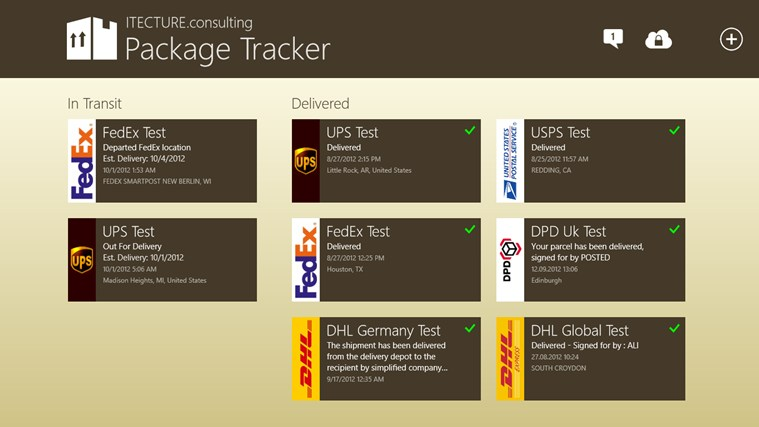 Package Tracker screen shot 0