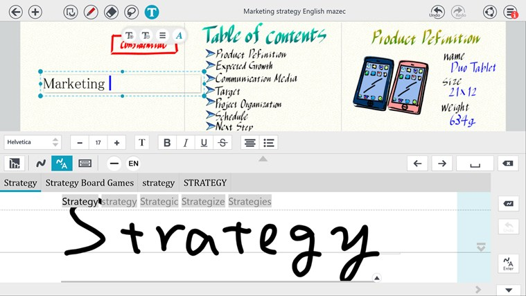 Note Anytime screen shot 2