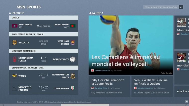 MSN Sports capture d'écran 2