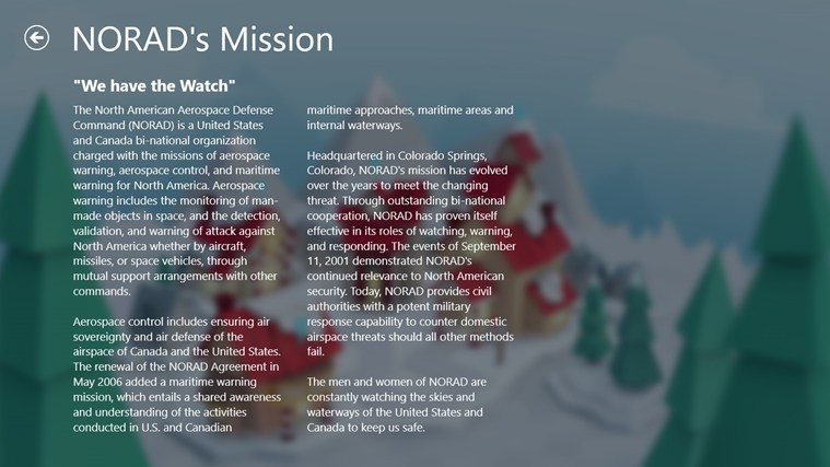NORAD Tracks Santa screen shot 6