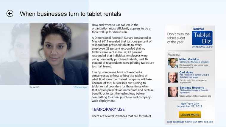 TabTimes - The Tablet Business Magazine screen shot 4
