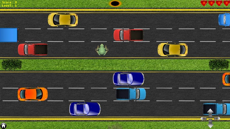 frog cross the road game