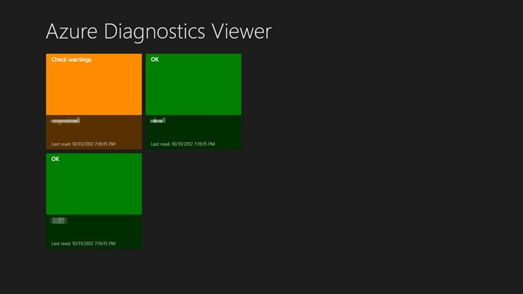 Azure Diagnostics Viewer screen shot 2