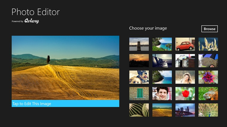 Photo Editor for Windows UWP screenshot