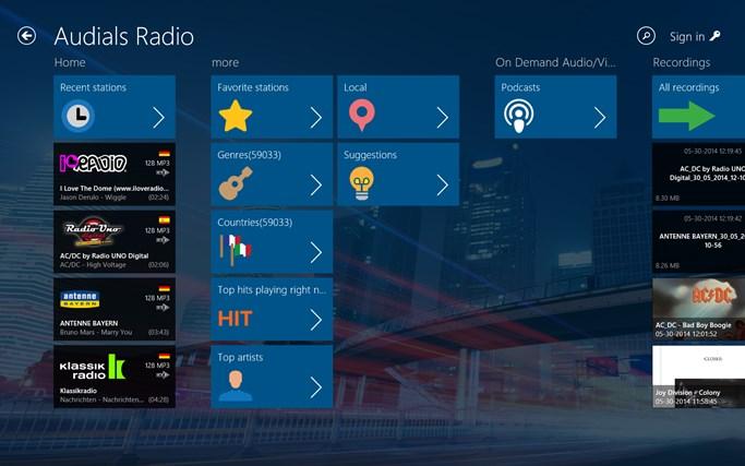 Audials Radio skjermbilde 0