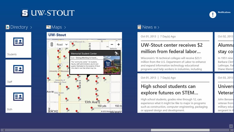 UW-Stout screen shot 2