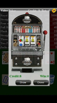 Video Poker (Free) screen shot 2