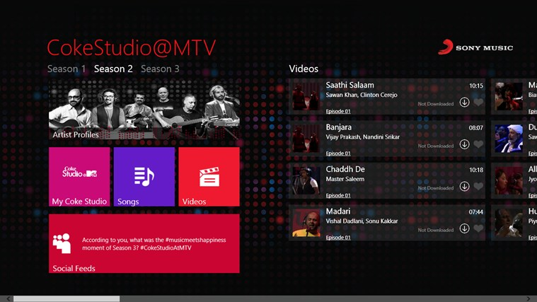 CokeStudio @MTV screen shot 4