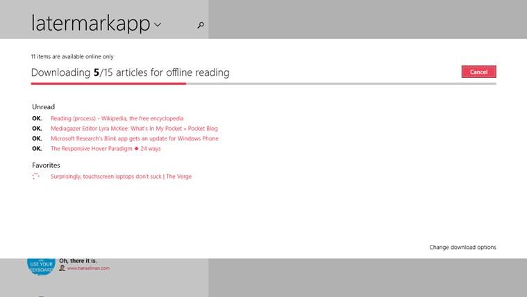 Screenshot.247724.1000005 Latermark: Pocket auf Windows 8 & Windows RT nutzen