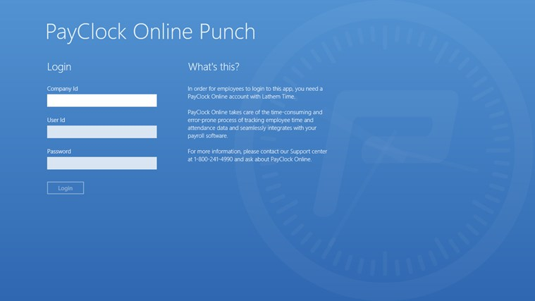 PayClock Online Punch screen shot 0