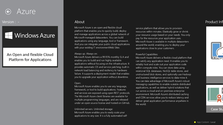 Products & Services Portfolio screen shot 4
