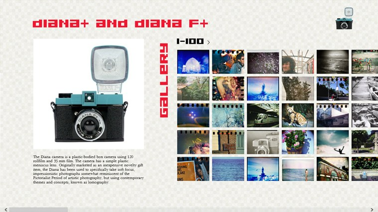 Free Diana+ Photo Gallery screen shot 0