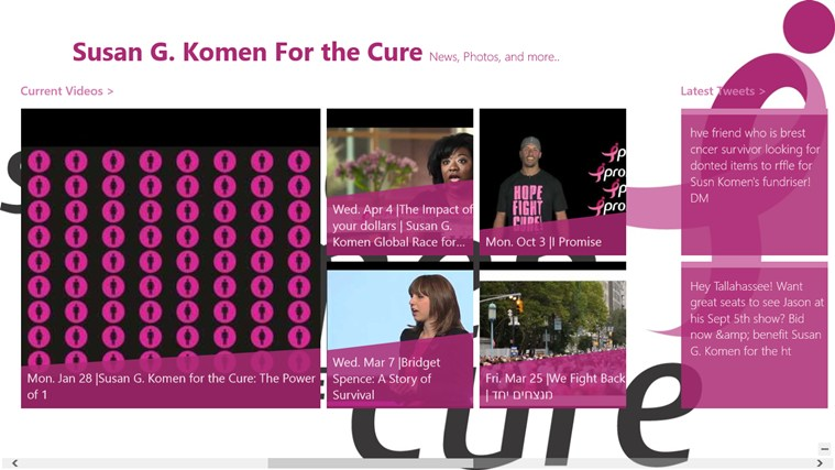 Susan G. Komen For the Cure App screen shot 0
