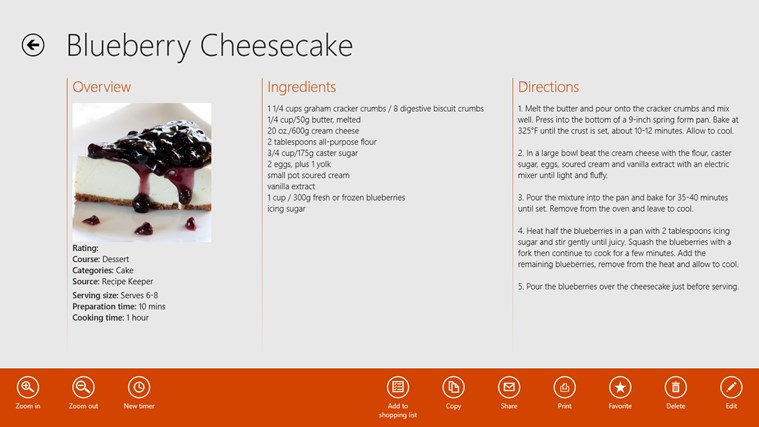 Recipe Keeper Pro screen shot 2