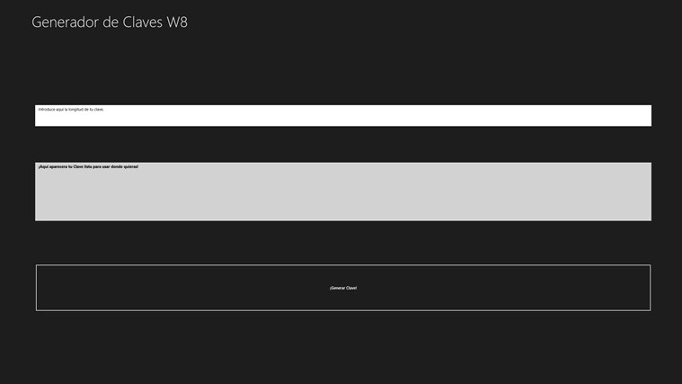 Generador de Claves W8 captura de pantalla 0