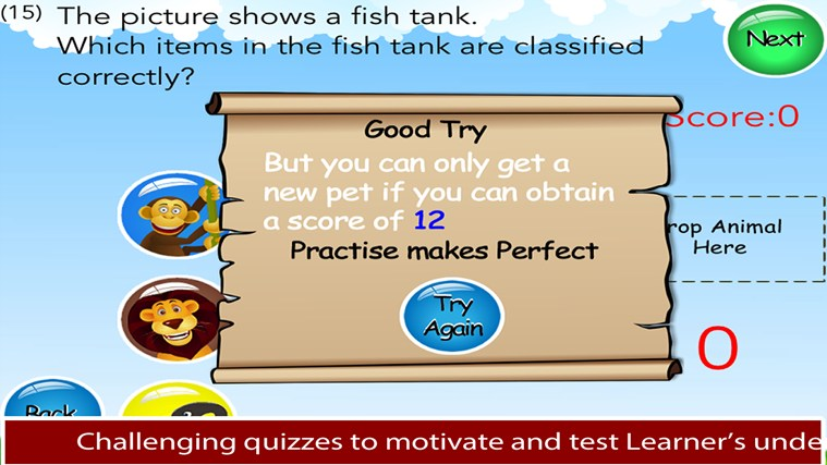 Animals Learn Science - 3rd Grade screen shot 4