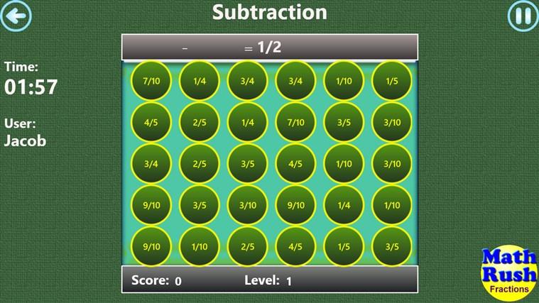 Math Rush Fractions screen shot 4
